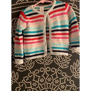 Used Gymboree striped sweater Size 12-18 Months